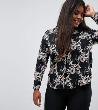 Brave Soul Plus Dymphia floral print shirt