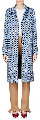 Prada Women's Geometric-Print Neoprene Topcoat