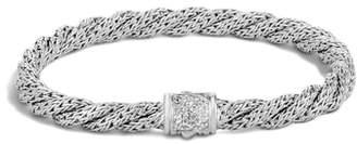 John Hardy Twist Chain 5mm Bracelet with Diamonds