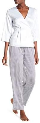 Shimera Satin Wrap Pajama Set