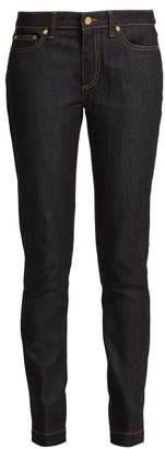 Loewe Mid Rise Skinny Jeans - Womens - Dark Blue