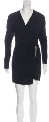 Donna Karan Bodycon Long Sleeve Mini Dress