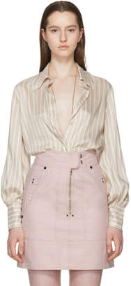 Isabel Marant Pink Striped Ilana Shirt