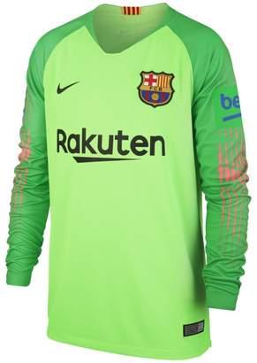 Nike 2018/19 FC Barcelona Stadium Goalkeeper Older Kids'Football Shirt