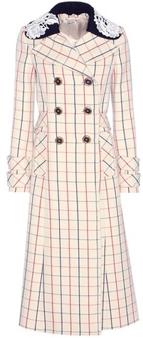 Miu Miu Miu Miu Check Wool Coat
