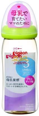 Pigeon breast milk feeling bottle plastic light green 240ml by