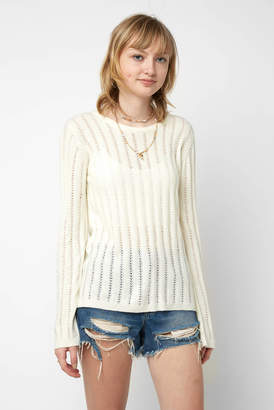 Fate By Lfd Fate by LFD Pointelle Back Lace Up Pullover