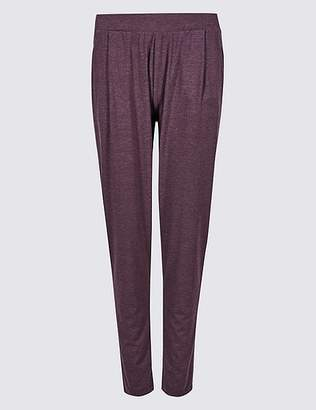 Marks and Spencer Marl Jersey Tapered Leg Peg Trousers