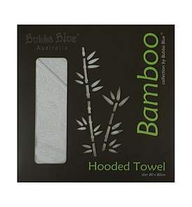 Bubba Blue Bamboo Hooded Towel-White