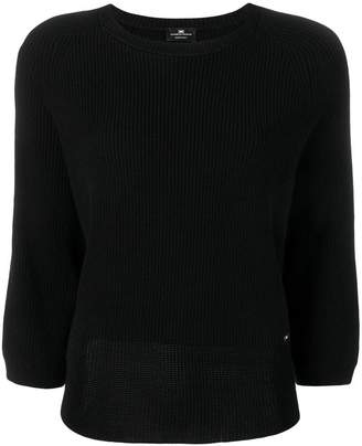 Elisabetta Franchi ribbed boxy sweater