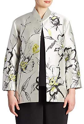 Caroline Rose Women's All In Bloom Floral Jacquard Jacket