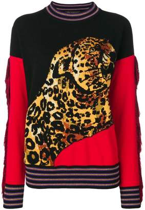 Versace leopard knit jumper