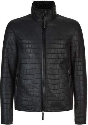 Emporio Armani Leather Shearling Jacket