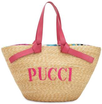 Emilio Pucci (エミリオプッチ) - EMILIO PUCCI ストローバケツバッグ