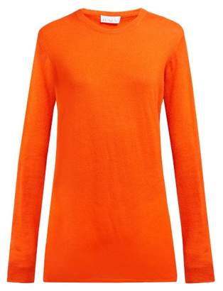 Raey Long Line Fine Knit Cashmere Sweater - Womens - Orange