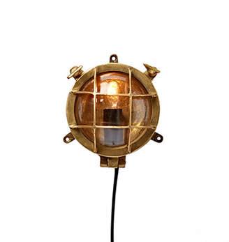 Rejuvenation Miniature Nautical Brass Bulkhead Light