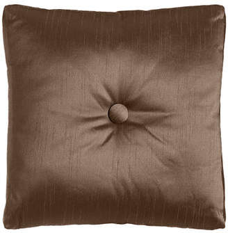"""Dian Austin Couture Home Le Plaza Solid-Color Box Pillow with Button Center, 20""""Sq."""