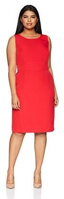 Kasper Women's Size Plus Solid Crepe Sheath Dress