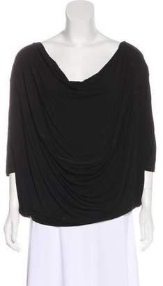 Donna Karan Draped Knit Top