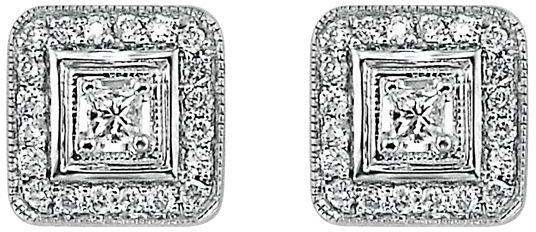 14k White Gold 1/3-Ct. T.w. Certified Diamond Earrings