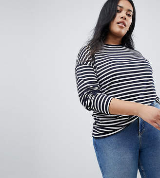 Asos Long Sleeve Oversized T-Shirt In Stripe