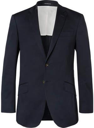 Richard James Navy Seishin Slim-Fit Stretch-Cotton Suit Jacket