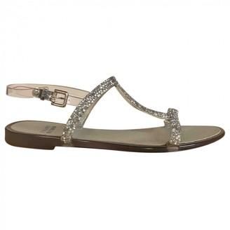 Stuart Weitzman Metallic Plastic Sandals