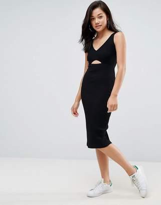 ASOS Midi Cut Out Elastic Waist Bodycon Dress $32 thestylecure.com