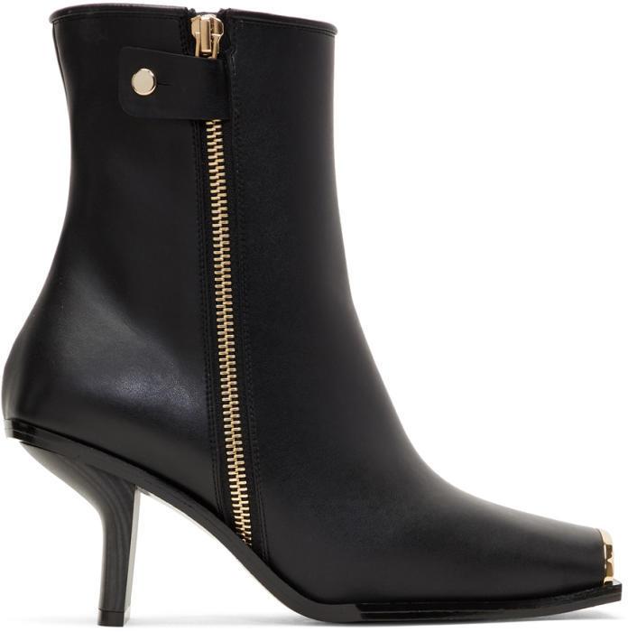 Stella McCartney Black Metallic Toe Boots