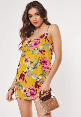 168545c764fd Missguided Petite Yellow Floral Cami Mini Dress, Yellow