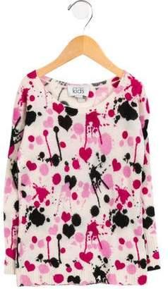 Autumn Cashmere Girls' Wool Splatter Print Sweater
