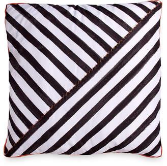 """Scribble Stripe 26"""" Square Decorative Pillow Bedding"""