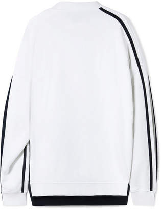 Y/Project Oversized Layered Cotton-jersey Sweatshirt - White