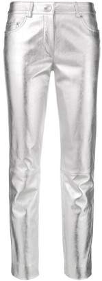 Moschino metallic skinny trousers