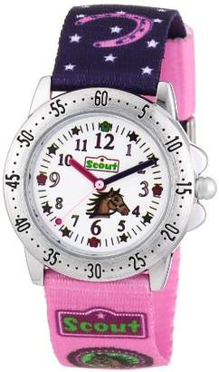 Scout Girls' Analogue Quartz Watch with Textile Strap - 280378065