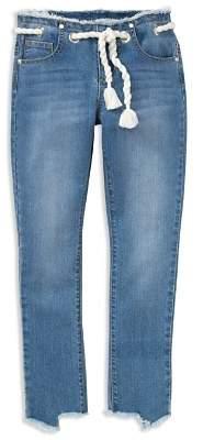 Habitual Girls' Sabrina Capri Jeans with Rope Belt - Big Kid