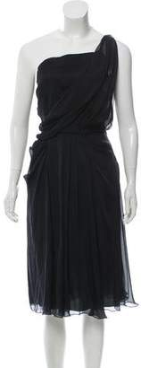 Philosophy di Alberta Ferretti Draped Knee-Length Dress