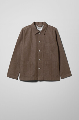 Weekday Generic Recycled Denim Jacket - Brown