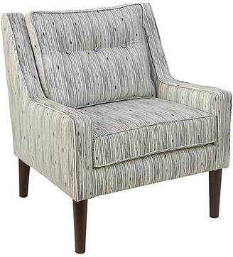 Shara Accent Chair - Shibori Stripe Linen - Cloth & Company