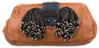 3.1 Phillip Lim 3.1 Phillip Lim Beaded Tassel Leather Clutch
