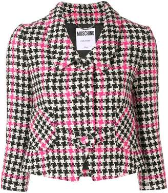 Moschino cropped houndstooth jacket
