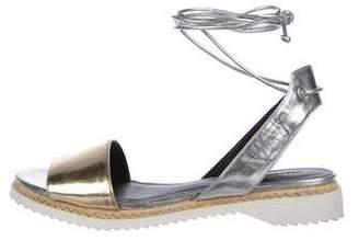 Rebecca Minkoff Metallic Espadrille Sandals