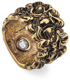 Gucci Men's Large Lion Head Band Ring