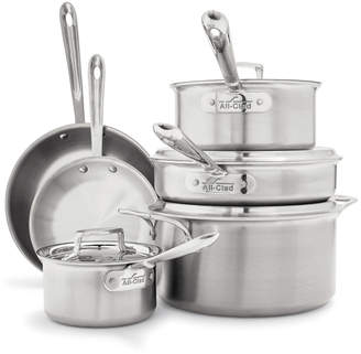 All-Clad d5 Brushed Stainless Steel 10-Piece Set