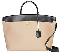 Burberry Women's Medium Society Canvas & Leather Top Handle Bag