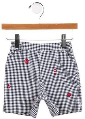 Florence Eiseman Boys' Embroidered Gingham Shorts