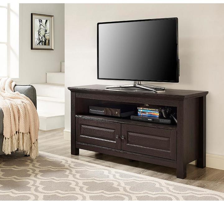 Walker Edison Furniture Company 44 in. Cortez Espresso Wood TV Stand Console
