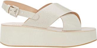 Barneys New York Women's Crisscross-Strap Platform Sandals $215 thestylecure.com