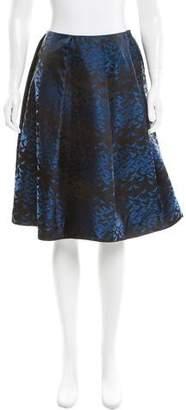 Araks Silk Bird Jacquard Skirt w/ Tags