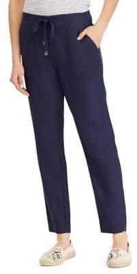 Lauren Ralph Lauren Petite Straight Leg Linen Pants